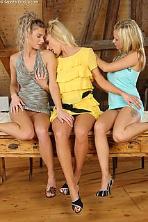 Angelic Threesome pic #3