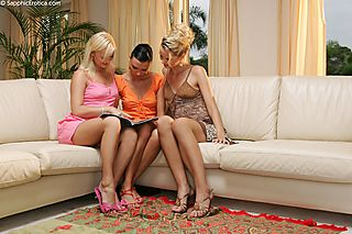 Sofa Threesome pic #1